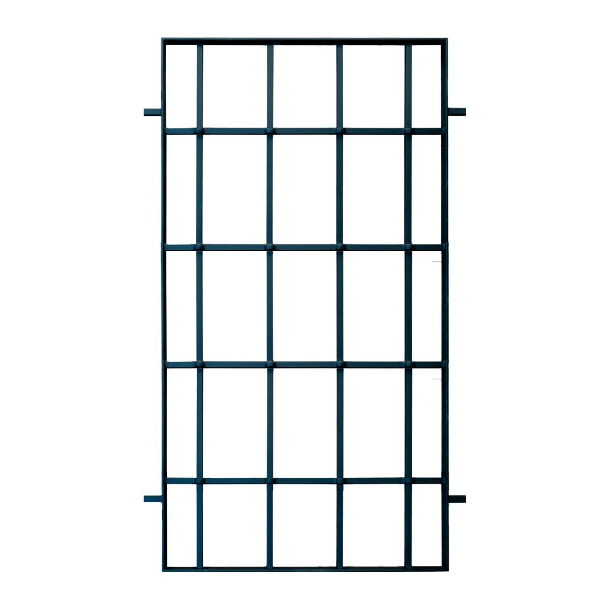 Grata blindata Modello 1 nero L 60 x H 100 cm
