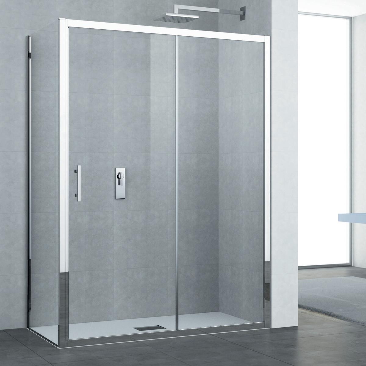 Chiusura doccia scorrevole diamond 8mm trasparente 100 - Chiusura doccia scorrevole ...