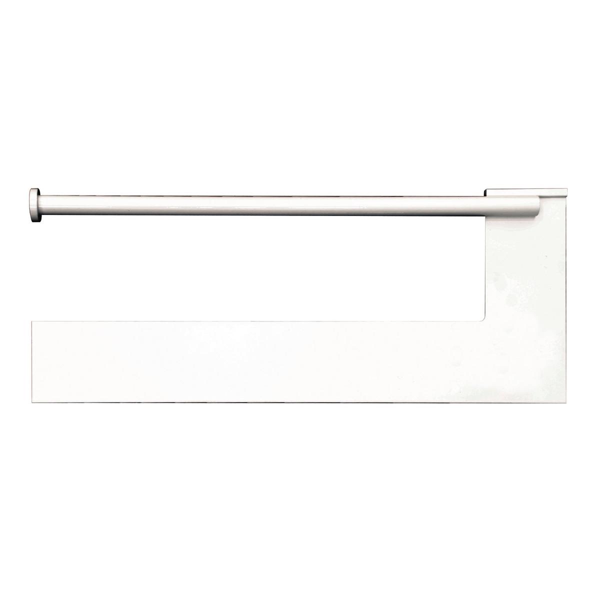 Eurocali porta rotolo parete metallo bianco prezzo e for Leroy merlin librerie metallo