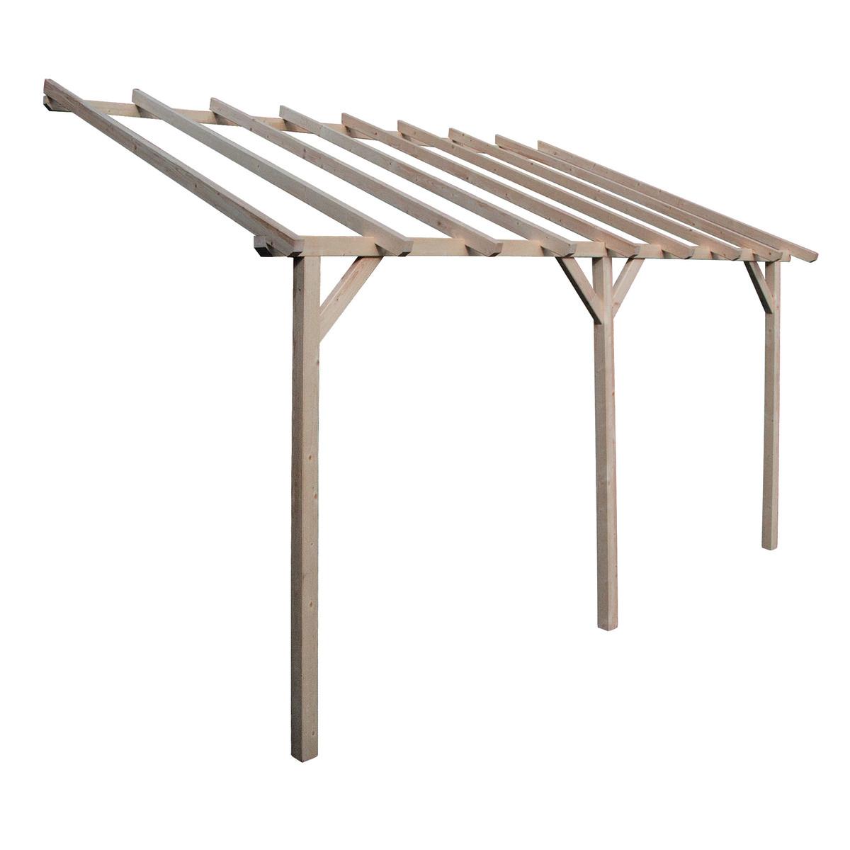 tettoia pensilina legno lamellare bracci angolari 1 50