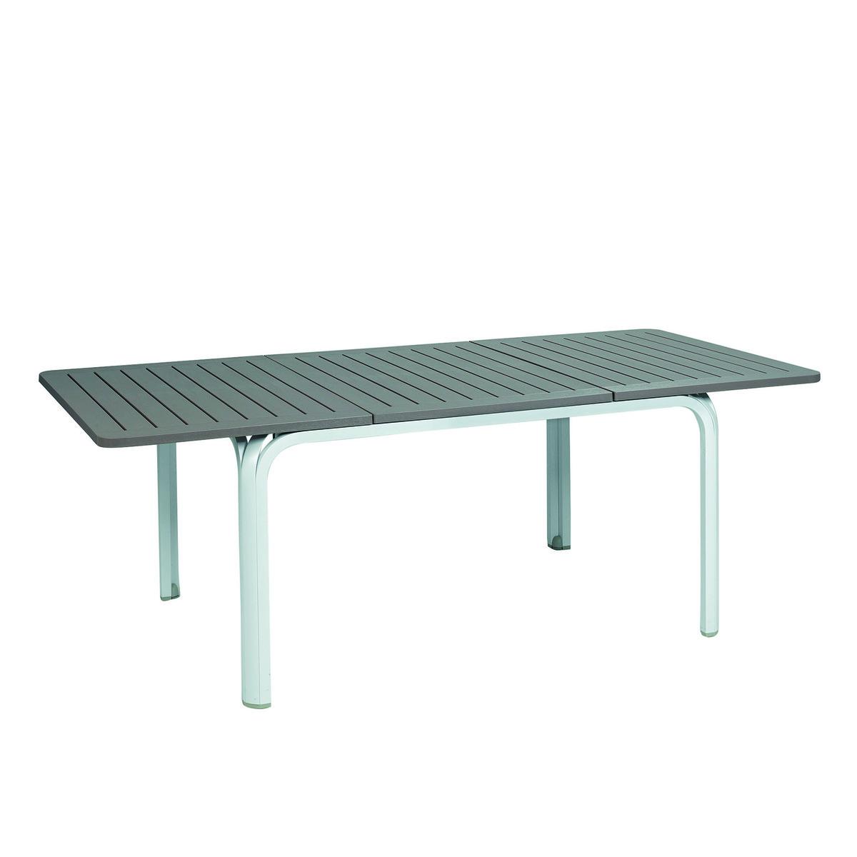 Tavolo allungabile alluminio bianco 120 240 top prezzo e for Tavoli da esterno leroy merlin