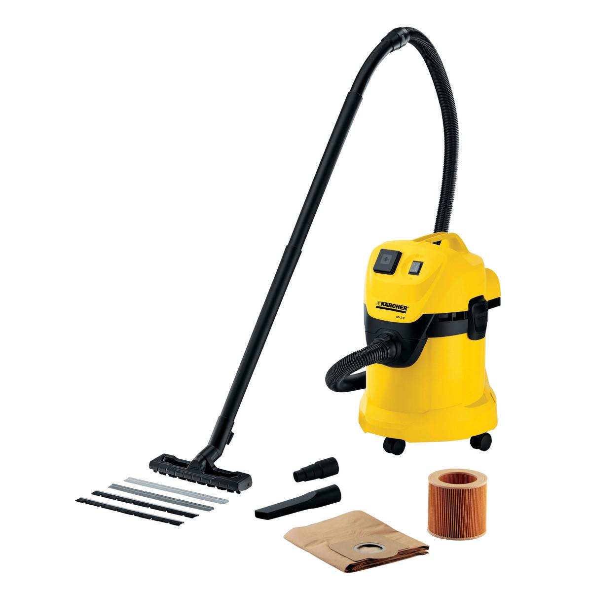 k rcher ad aspiratore senza sacchetto 17l 1200w nero giallo prezzo e offerte sottocosto. Black Bedroom Furniture Sets. Home Design Ideas