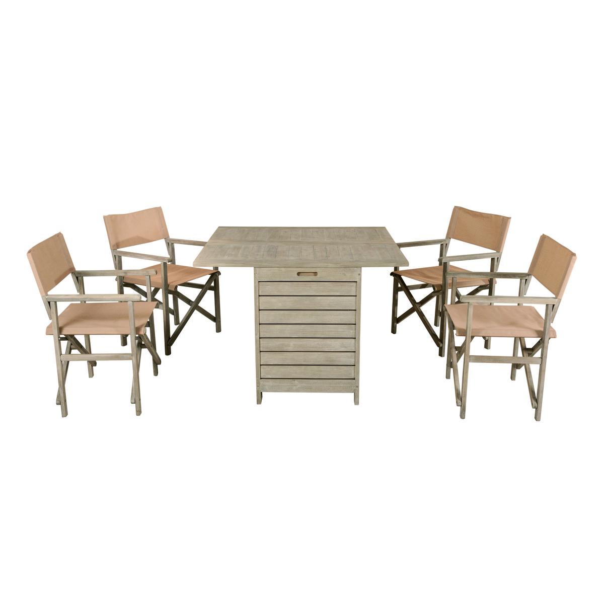 Set tavolo e 4 sedie poltrone giardino prezzo e offerte for Set tavoli e sedie leroy merlin
