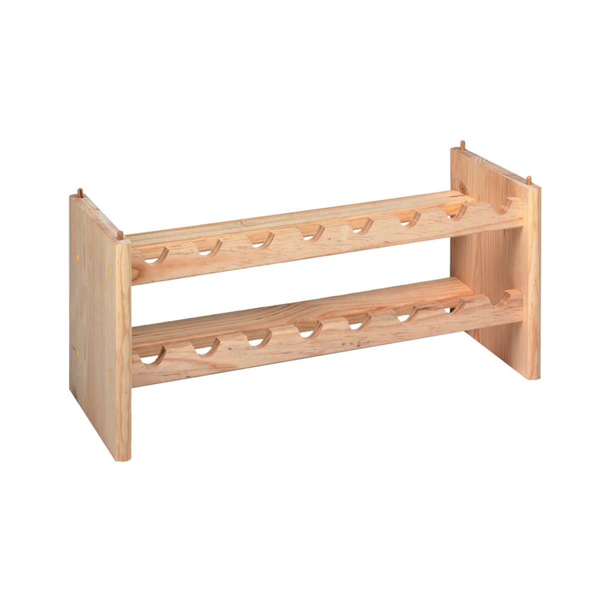 Portabottiglie parete in legno al miglior prezzo casa for Portabottiglie leroy merlin