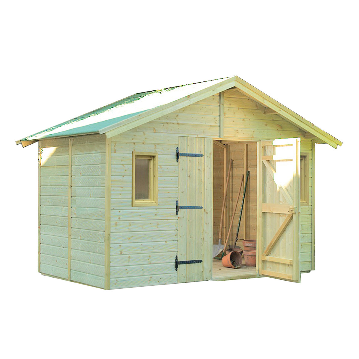 Casetta legno impregnato 180x135xh217cm esterno porta for Casetta in legno prezzo