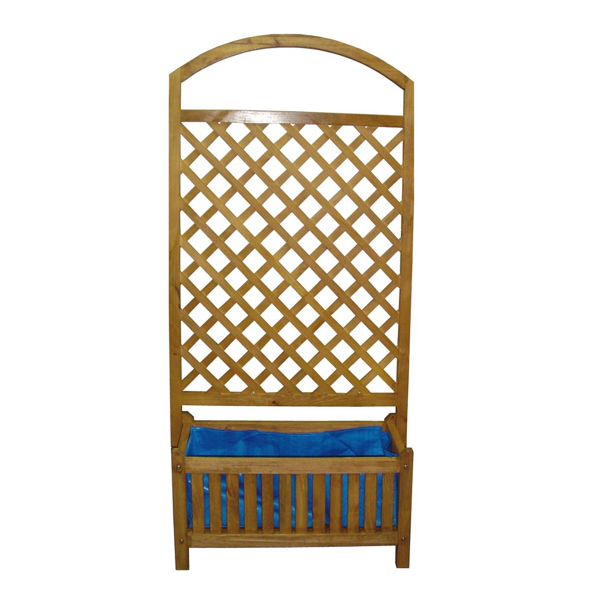 Fioriera in legno trattato con grigliato rettangolare for Grigliato leroy merlin