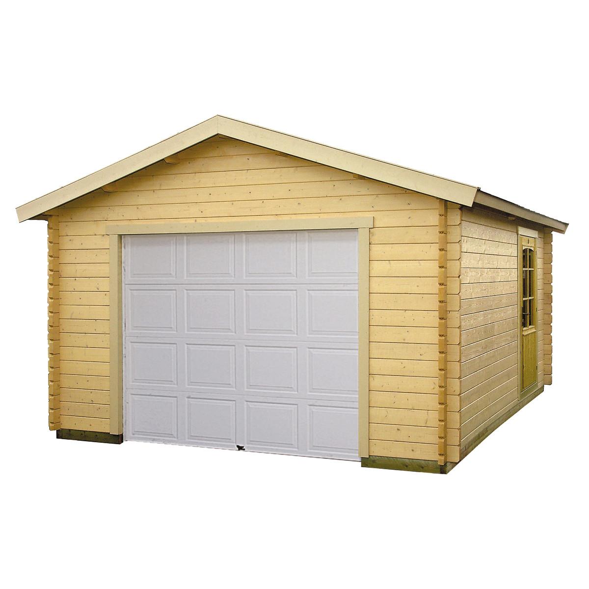 Garage cedro 380x580x260 cm prezzo e offerte sottocosto for Perline legno leroy merlin