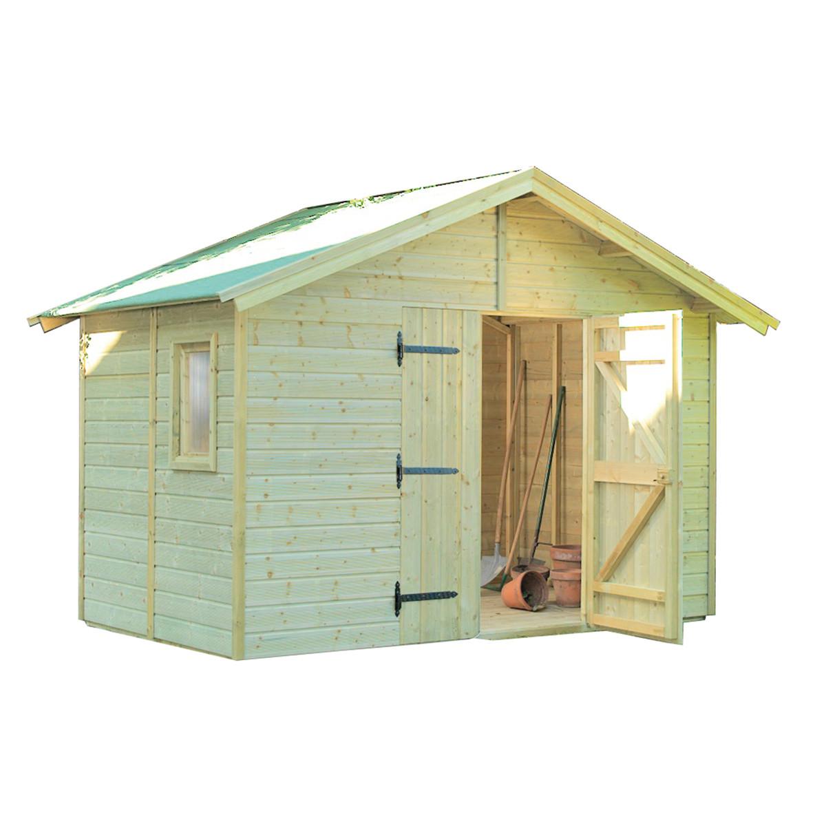 Casetta legno impregnato 135x61xh201cm esterno porta for Listelli abete leroy merlin
