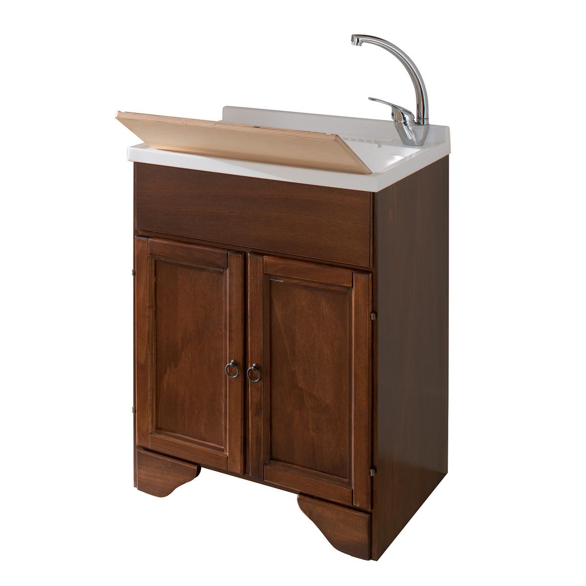 Lavatoio legno c piedi l60xp50xh85 prezzi migliori offerte - Mobile lavatoio leroy merlin ...