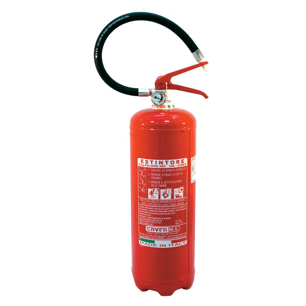 Firestop estintore a polvere 6 kg prezzo e offerte - Estintore in casa ...