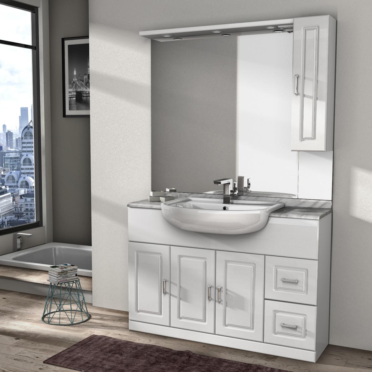 Mobile bagno con lavabo in ceramica 80 prezzo e offerte sottocosto - Mobile bagno doppio lavabo leroy merlin ...