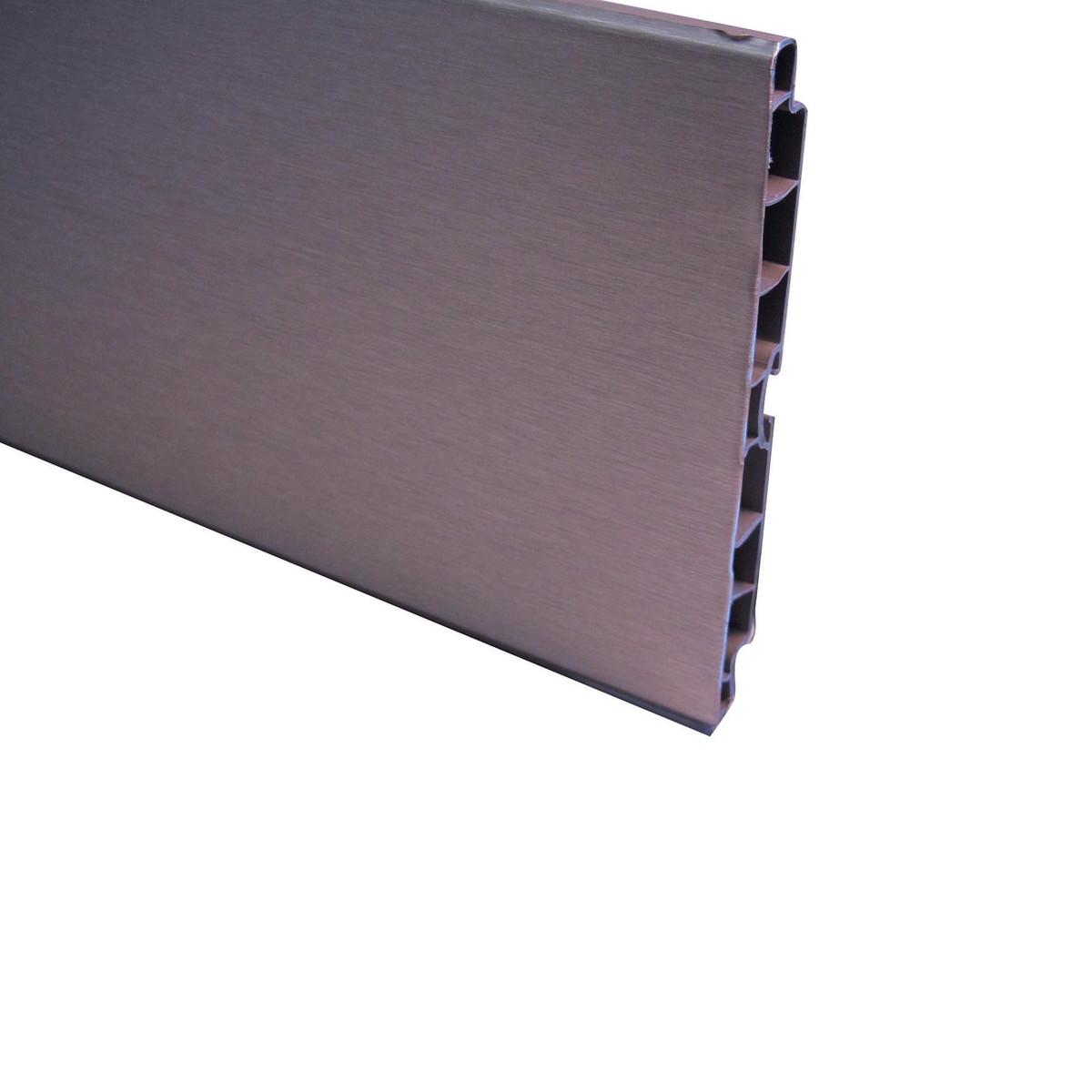 Zoccolino mobile cucina alluminio h cm 15 prezzo e for Leroy merlin librerie metallo