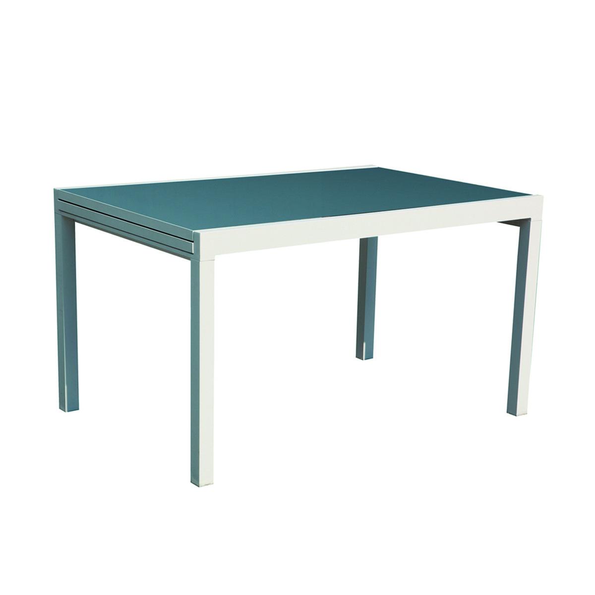 Tavolo allungabile alluminio bianco 120 240 top prezzo e for Gambe tavolo legno leroy merlin