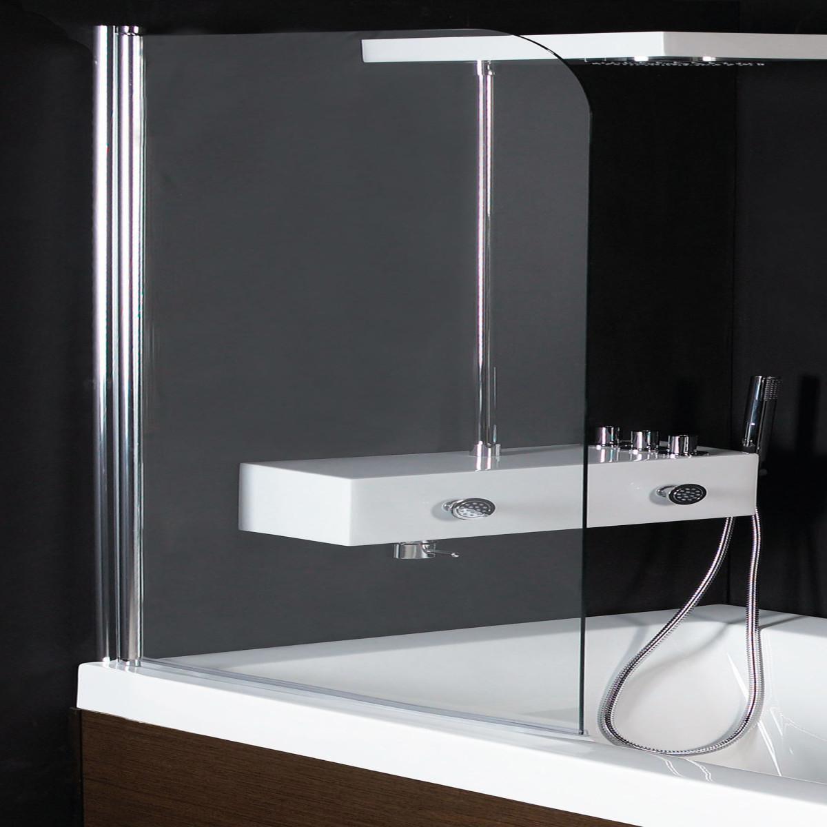 Tamanaco parete sopra vasca 2 ante girevoli prezzo e for Guarnizioni box doccia leroy merlin