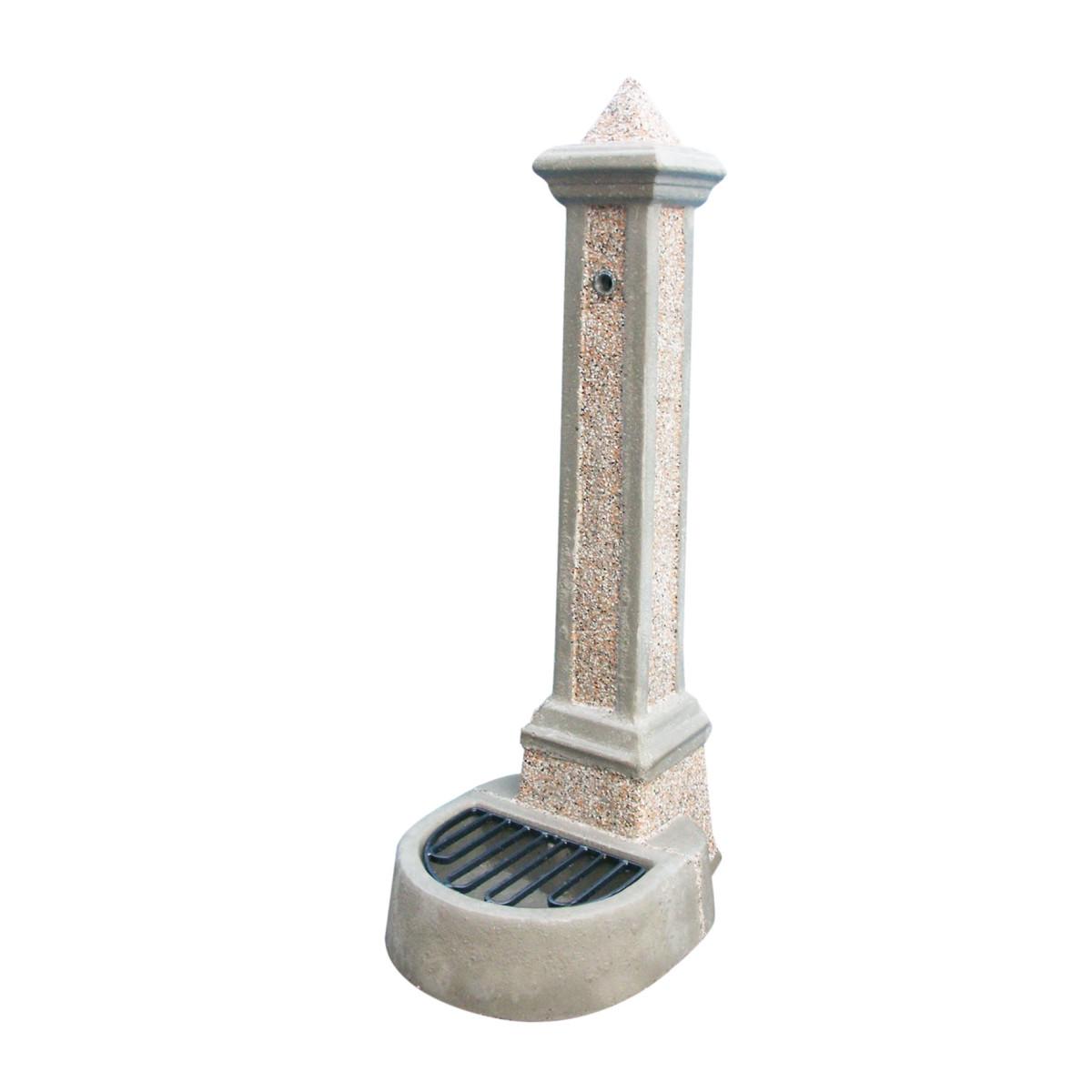 Fontana in pietra a colonna terra altezza prezzo e for Vasi in terracotta leroy merlin