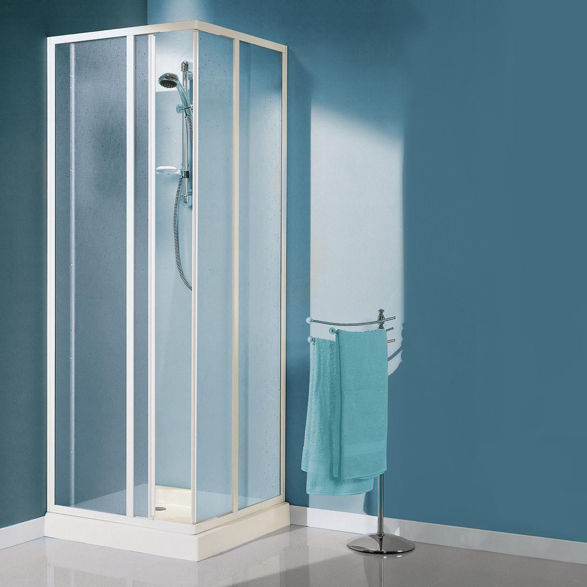 Box doccia per 2 persone walzer 142x90 prezzo e offerte for Box doccia tre lati leroy merlin