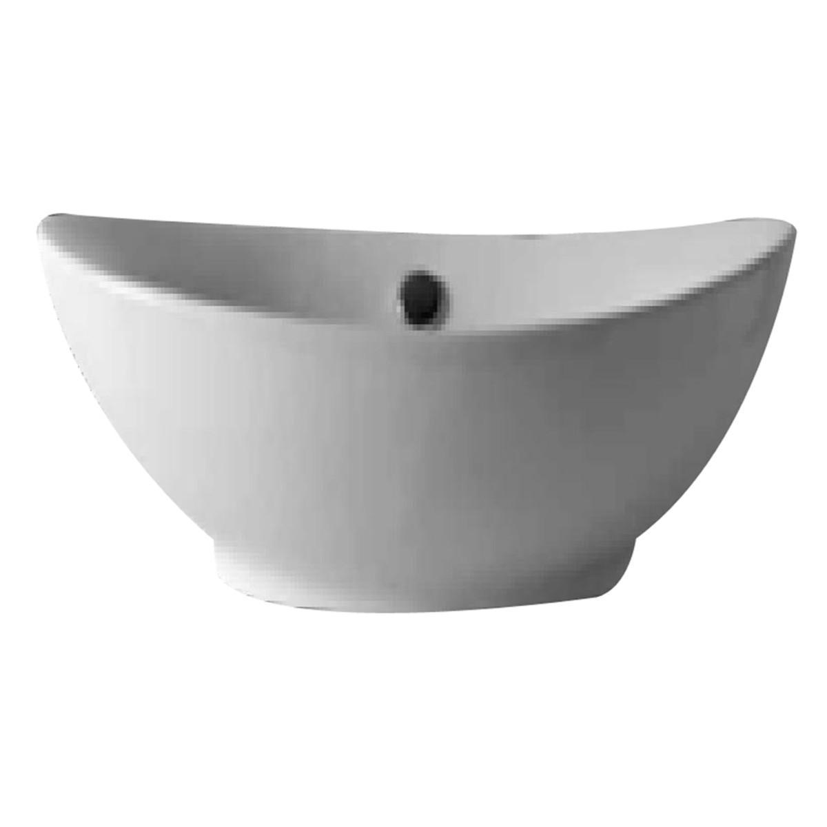 Lavabo da appoggio Ovale bianco