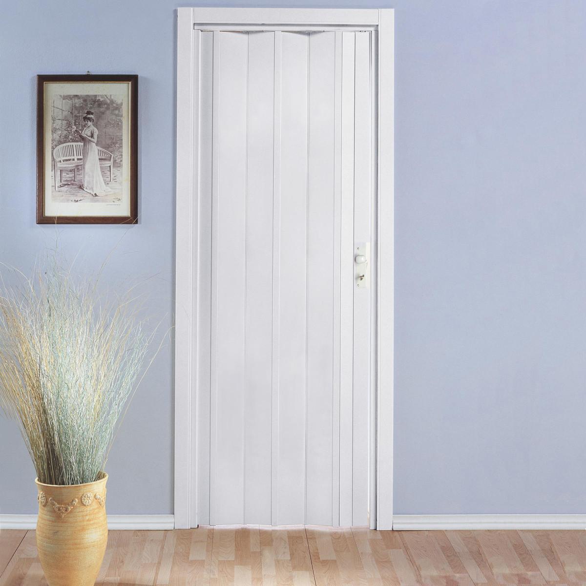 Porta soffietto interno pvc effetto legno ciliegio - Porta pvc leroy merlin ...