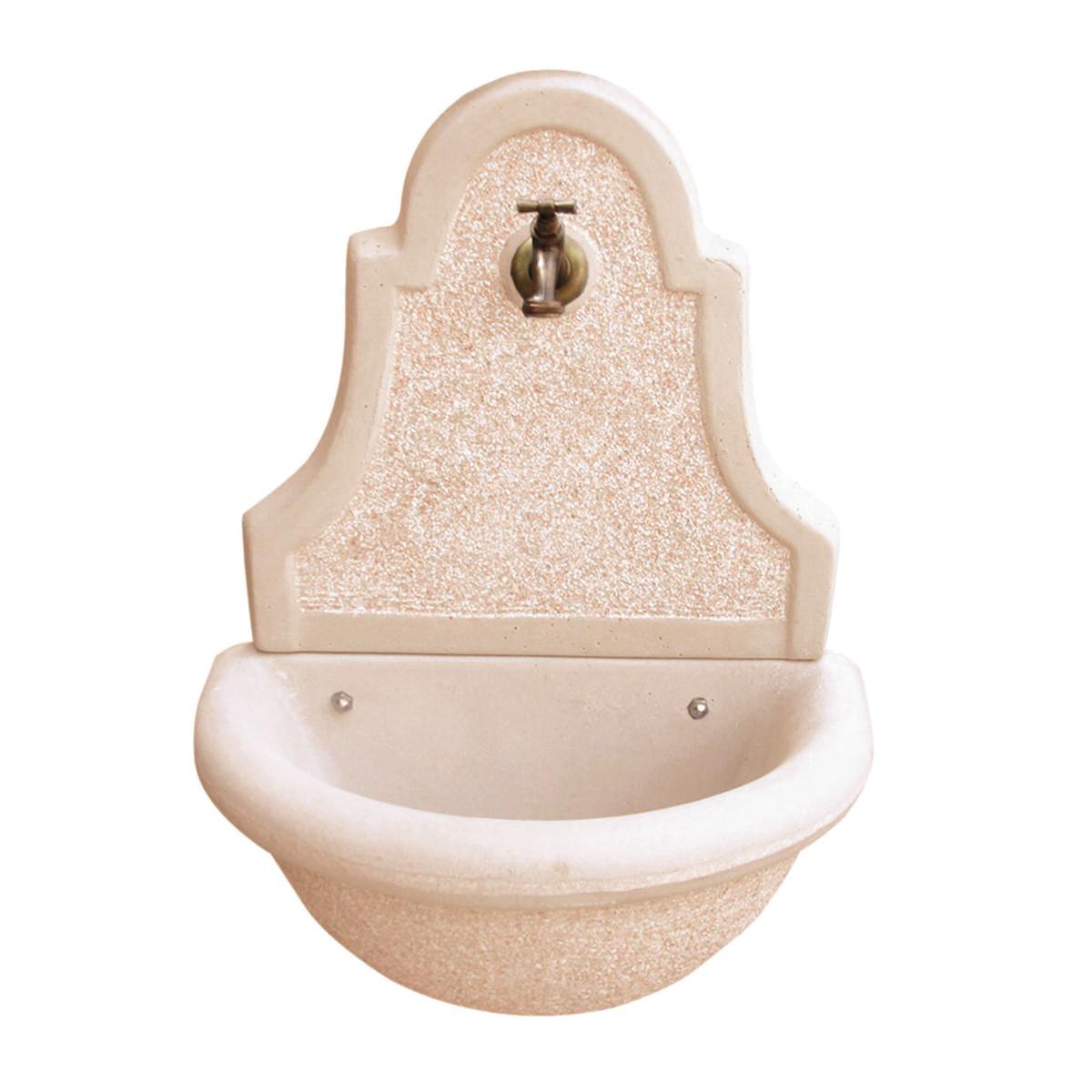 Kam fontana vedovella martellinata in cemento prezzo e for Leroy merlin fontane da esterno