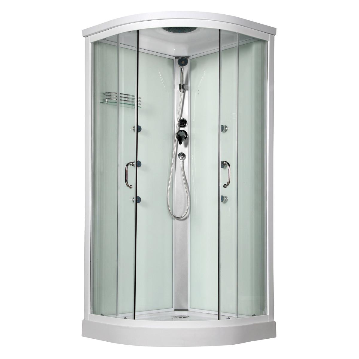 Nessuno cabina doccia idromassaggio 70x110 iride sinistra for Cabina doccia eklis montaggio