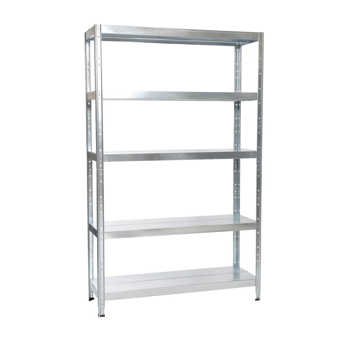 Scaffale zincato 60x27x140 cm ikea hyllis prezzo e for Ikea scaffali metallo