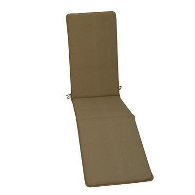 Cuscino poltrona con poggiapiedi Basic tortora 44 x 179 cm
