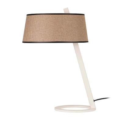 Lampada da tavolo Round marrone/bianco