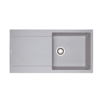 Lavello incasso Maris alluminio L 97 x P 50 cm 1 vasca + gocciolatoio