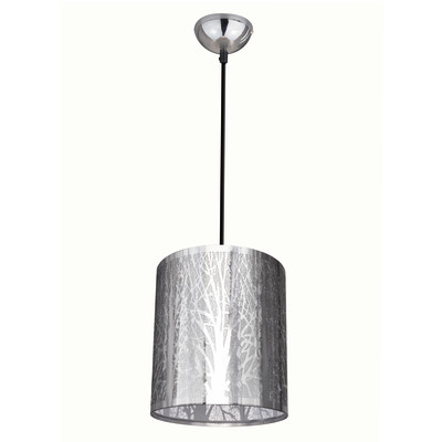 Lampadario Forest cromo, in metallo, diam. 20 cm, E27 MAX60W IP20 INSPIRE