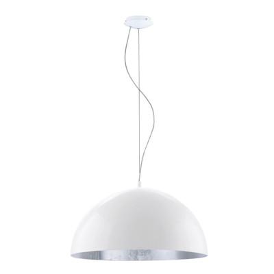 Lampadario Gaetano 1 grigio, bianco, in metallo, diam. 38 cm, E27 MAX60W IP20 EGLO