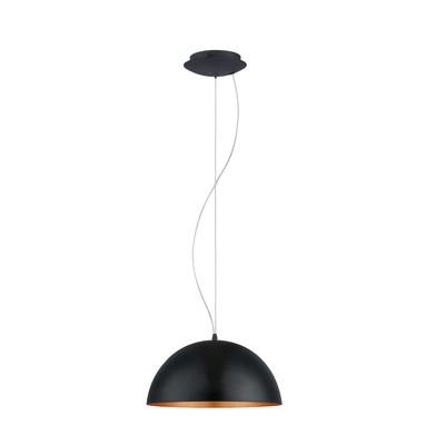 Lampadario Gaetano 1 nero, rame, in metallo, diam. 38 cm, E27 MAX60W IP20 EGLO