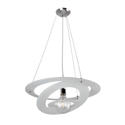 Lampadario Giove bianco, in vetro, diam. 57 cm, E27 MAX42W IP20