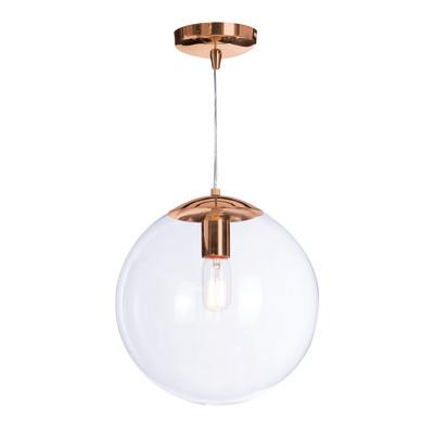 Lampadario Globus trasparente, in metallo, diam. 30 cm, E27 MAX40W IP20