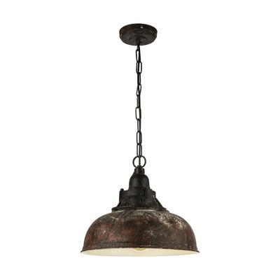 Lampadario Grantham nero, rame, in metallo, diam. 37 cm, E27 MAX60W IP20 EGLO