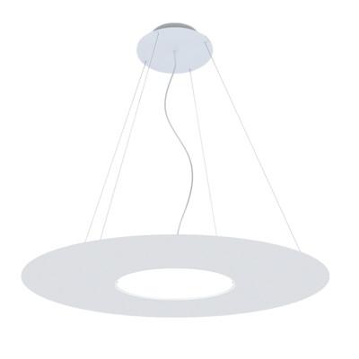 Lampadario Hole bianco, in vetro, diam. 55 cm, LED integrato 30W 3000LM IP20 LUMICOM