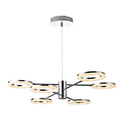 Lampadario Iring cromo, in ferro, LED integrato 30W 2160LM IP20 INSPIRE