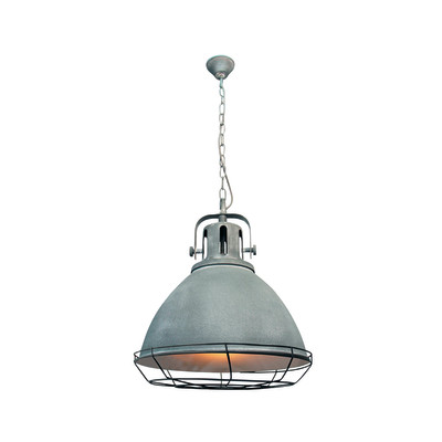 Lampadario Jesper grigio, in metallo, diam. 48 cm, E27 MAX60W IP20 BRILLIANT