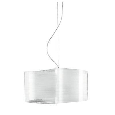 Lampadario Joyce bianco, in vetro, diam. 45 cm, E27 19xMAX42W IP20