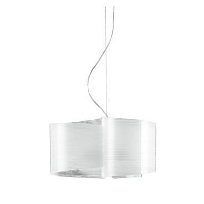 Lampadario Joyce bianco, in vetro, diam. 22 cm, E27 3xMAX42W IP20