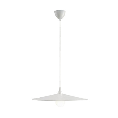 Lampadario Kasa bianco, in metallo, diam. 10 cm, E27 MAX60W IP20