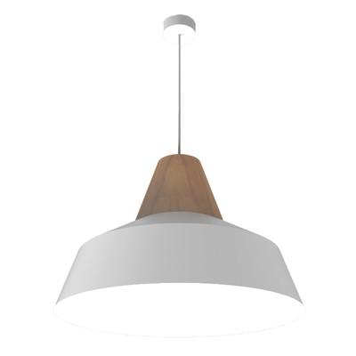Lampadario Kon bianco, in metallo, diam. 50 cm, E27 MAX53W IP20 LUMICOM
