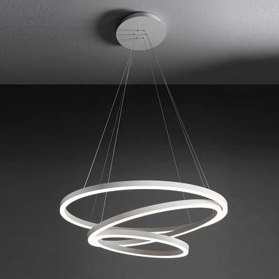 Lampadario Hurricane bianco, in alluminio, diam. 80 cm, LED integrato 105W 5140LM IP20