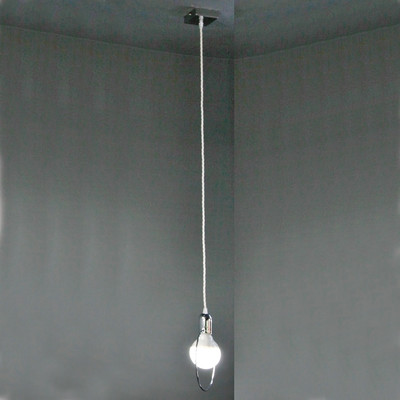 Lampadario Simply cromo, in metallo, diam. 20 cm, E27 MAX42W IP20