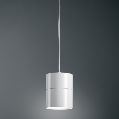 Lampadario Suspence bianco, in alluminio, diam. 15.7 cm, LED integrato 18W 1556LM IP20