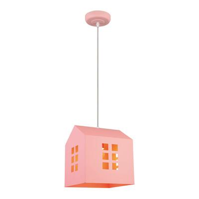Lampadario House rosa, in metallo, diam. 21 cm, E27 MAX40W IP20 LUSSIOL