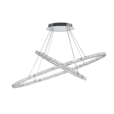 Lampadario Melody grigio, in metallo, diam. 120 cm, LED integrato 54W 4590LM IP20