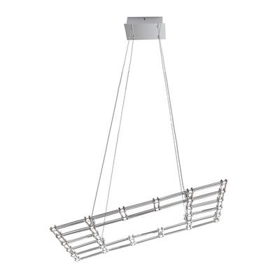 Lampadario Moles alluminio, in acrilico, LED integrato 36W 3060LM IP20
