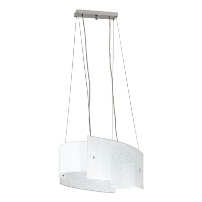 Lampadario Scinty bianco, in vetro, E27 2xMAX42W IP20