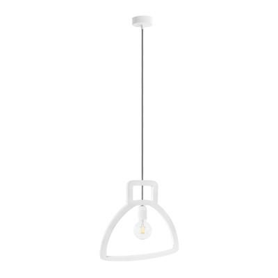 Lampadario Campana bianco, in plastica, diam. 40 cm, E27 MAX40W IP20