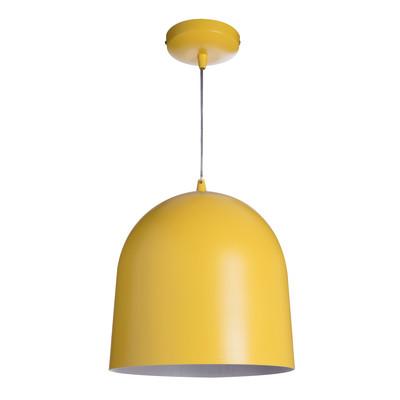 Lampadario Loft giallo, in metallo, diam. 30 cm, E27 MAX40W IP20 LUSSIOL